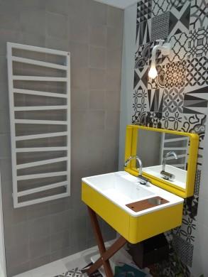 Лира за баня с нагревател ZIGZAG - цвят White Gold