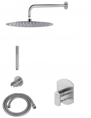 Душ система за вграждане Plavis steel надрана стомана - VEMA