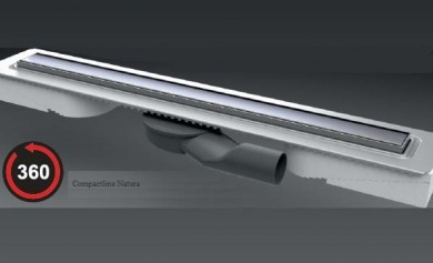 Линеен сифон с решетка Natura - 800mm