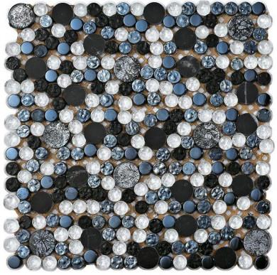 Стъклокерамична мозайка Planet Silver