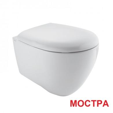 Окачена тоалетна чиния BOWL+ с капак плавно затваряне