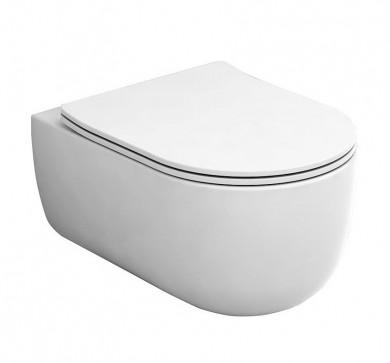 Окачена тоалетна чиния MILADY с капак плавно затваряне Take OFF
