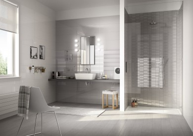 Плочки за баня Colourline White/Grey 22x66.2