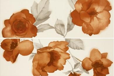Декор Colourline Decoro Fiore Ivory/Orange