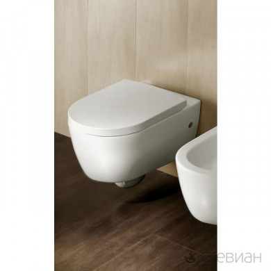 Окачена тоалетна чиния HATRIA FUSION с капак плавно затваряне 54x35.5